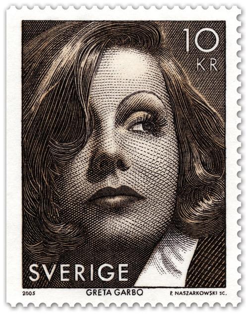 Greta Garbo on a Swedish Postage Stamp, 2005