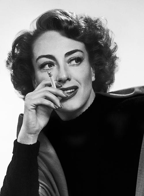 Joan Crawford having asmoke