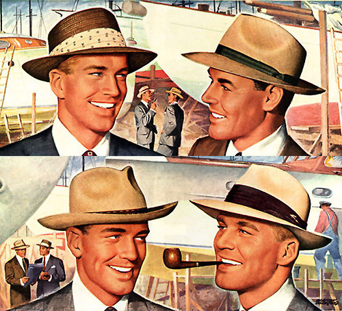 I'm sure this is from an old hat ad but sure looks some gay cruising is going on at thisboatyard
