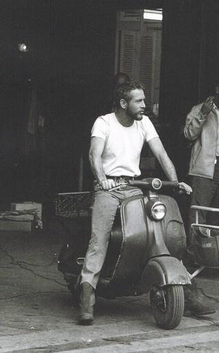 Paul Newman on a Vespa,1963