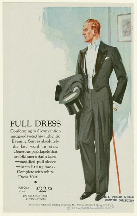 Tuxedo, circa 1930
