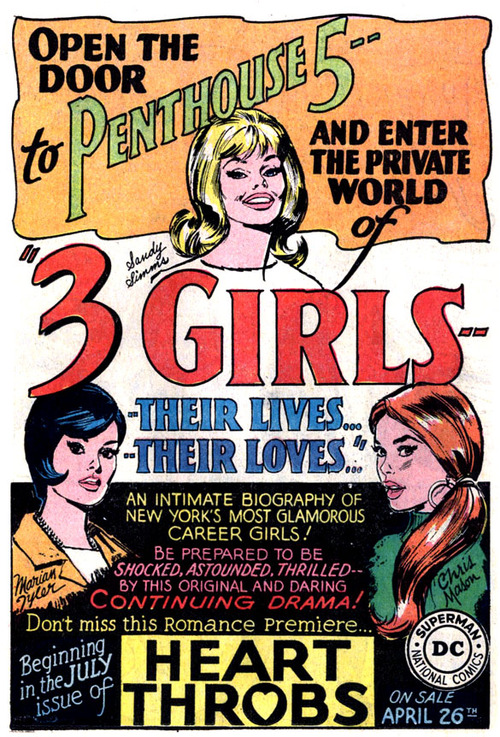 """Open the door to Penthouse 5 and enter the private world of """"3 Girls"""" – An intimate biography of New York's most glamorous careergirls!"""