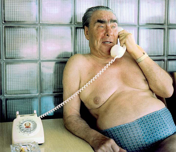 Brezhnev, shirtless