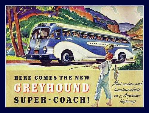 1930s Greyhound BusAd