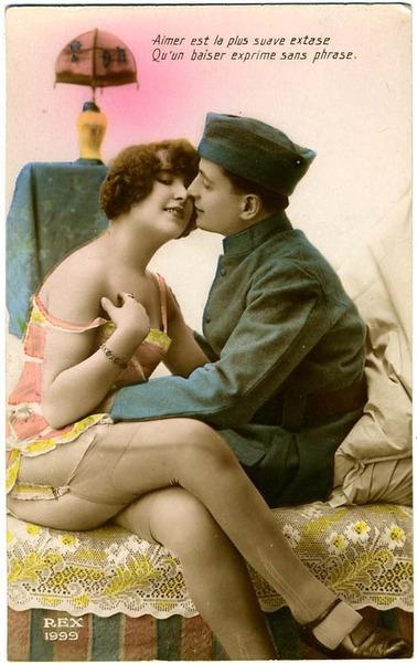 french romance postcard 2452