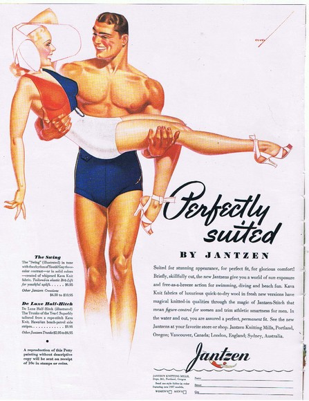 Illustration by Vargas for Jantzen swimsuits,1930s