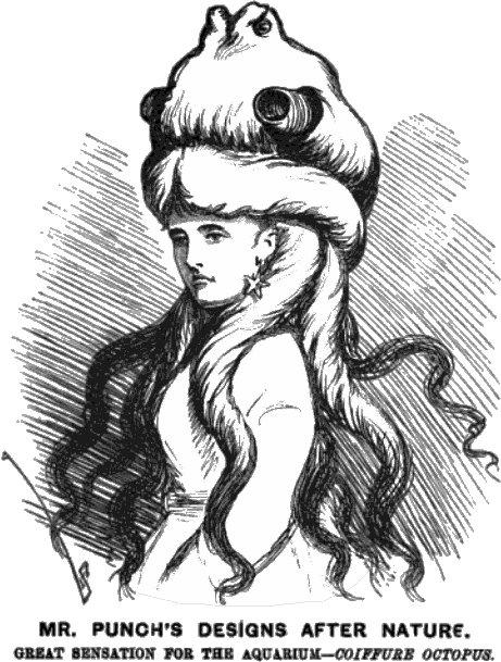 Coiffure Octopus, circa1890s