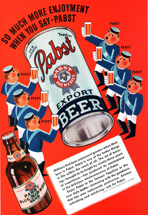 Old Pabst Blue RibbonAd