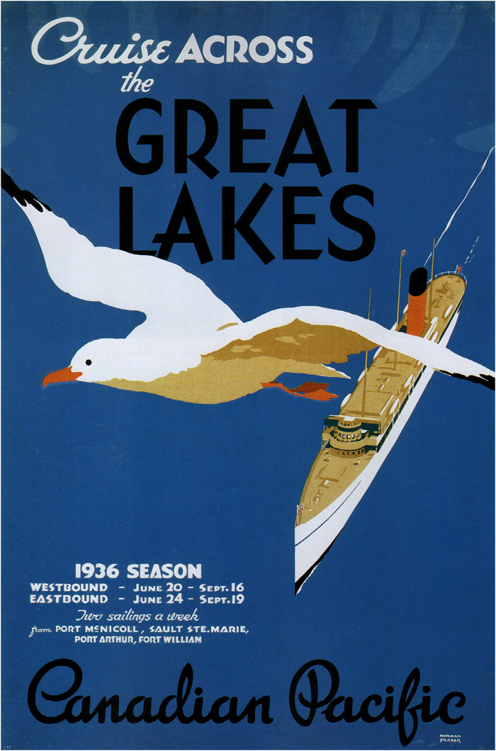 Cruise across the Great Lakes,1936