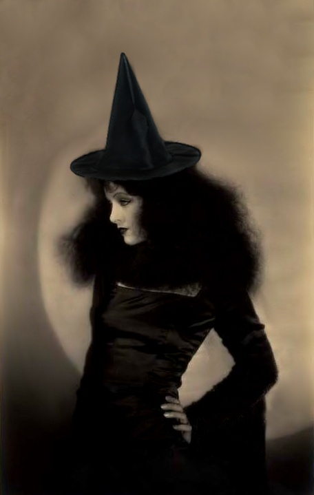 Myrna Loy as a witch