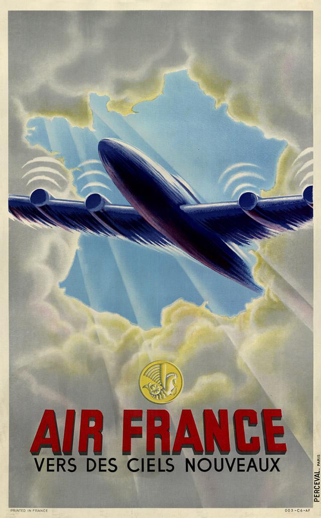 Vintage Air Franceposter