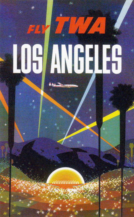 TWA Poster for Los Angeles, 1950s