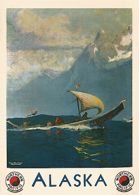 Old travel poster forAlaska