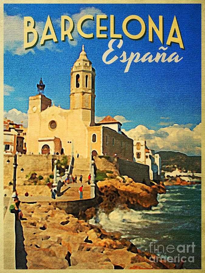 Vintage Barcelona TravelPoster
