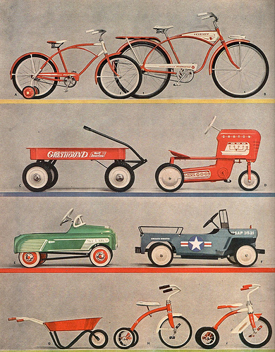 Bikes, tricycles, and wagons