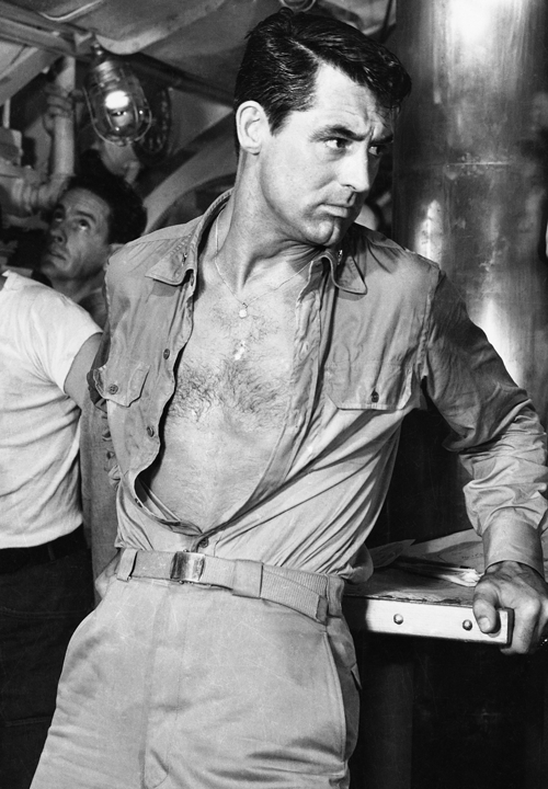 Cary Grant showing some skin