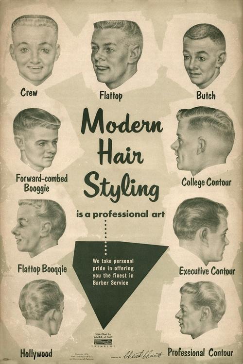Men's hair styles, 1950s | Matthew's Island of Misfit Toys