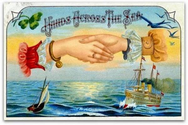 Hands across thesea