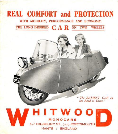 Whitwood Monocars, England