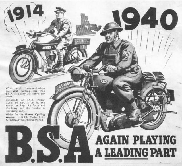 BSA Motorcycles, England,1940