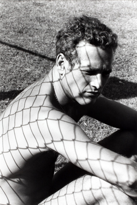 Paul Newman showing some skin