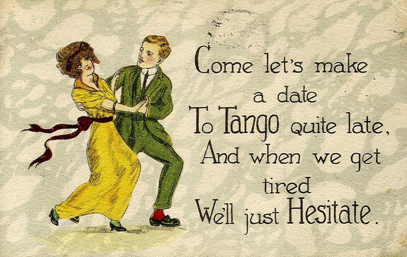 Tango postcard, 1920