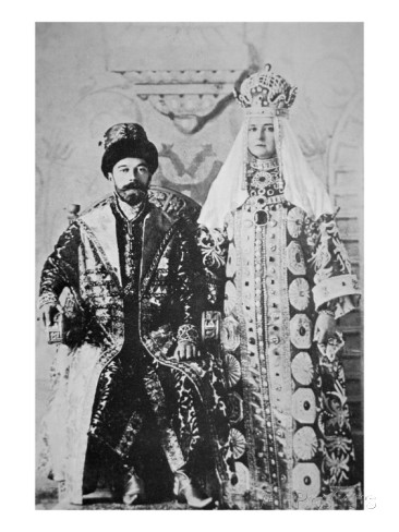 tsar-nicholas-ii-and-tsaritsa-alexandra-in-full-coronation-regalia-1896