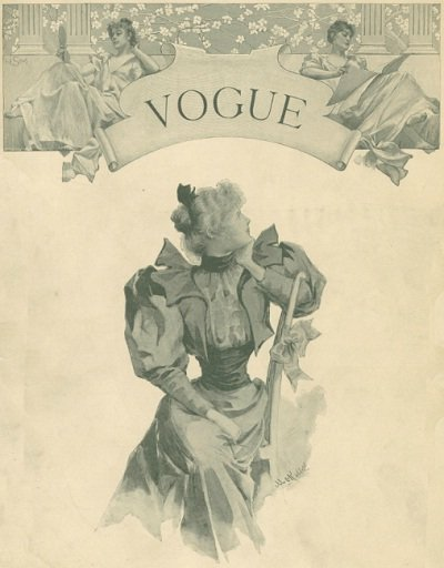 Cover of the first issue of Vogue