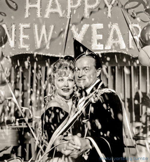 Happy New Year from Lucille Ball and Bob Hope