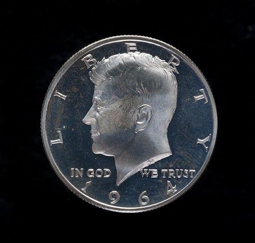 1964: JFK Silver half-dollar,US