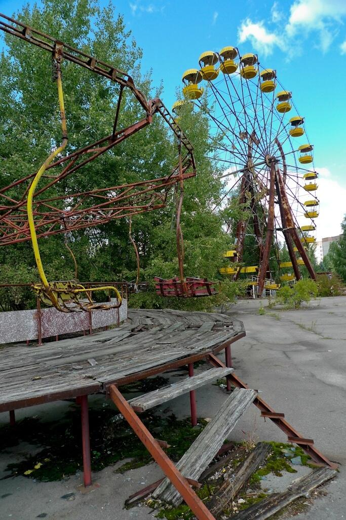 Abandoned amusement park nearChernobyl