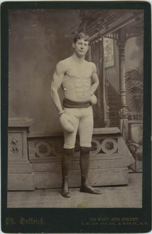 Gratuitous Shirtless Boxer, 1800s