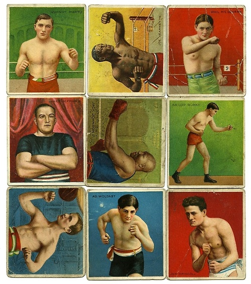 Old boxing cards