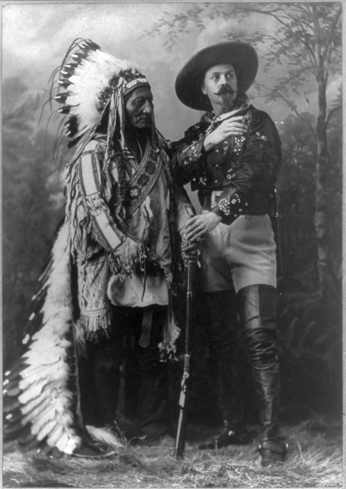 Buffalo Bill and a Native American Chief