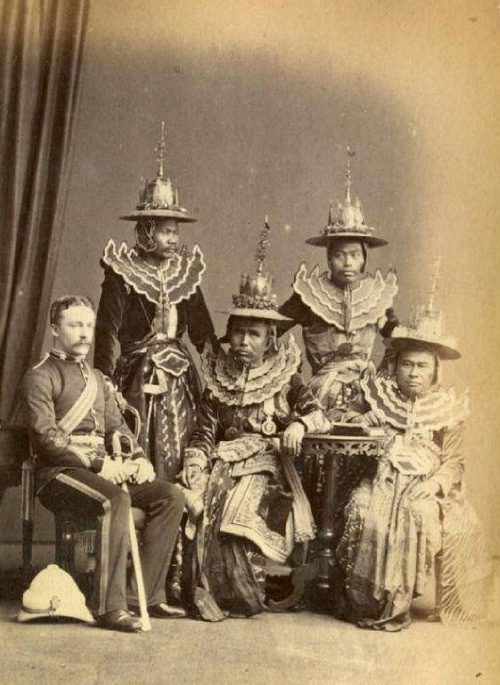 Burmese Envoys sent to meet with the British Empire,1875