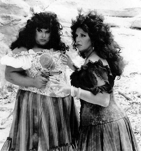 "Divine (on left) in ""Lust in the Dust"""