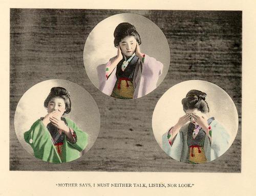 Mother says… I mustn't neither talk, listen, norlook