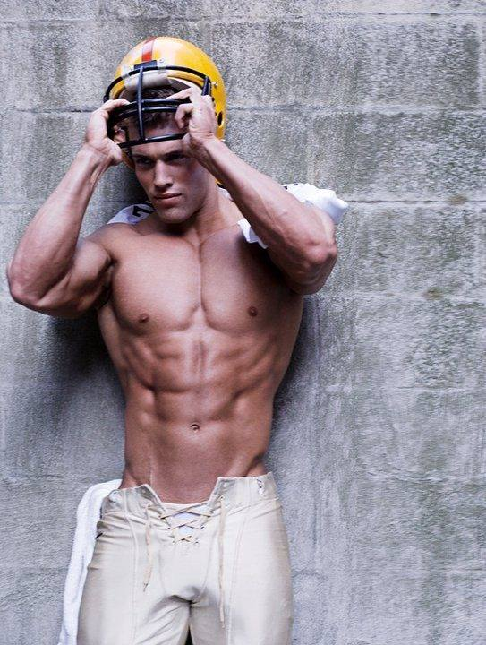 Gratuitous Shirtless Football Player