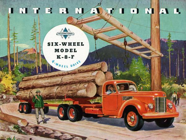 Timber truck model,1940s
