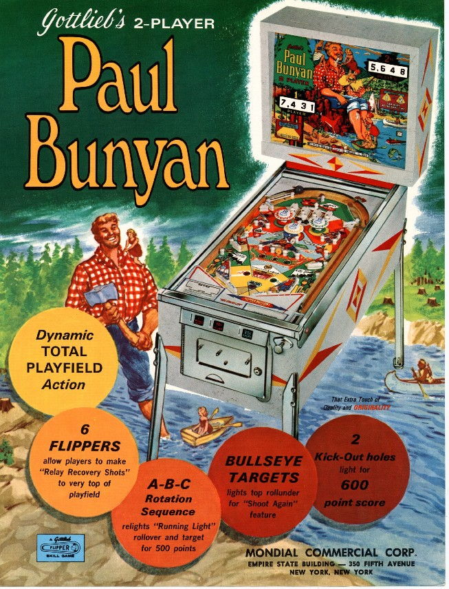 Paul Bunyan Lumberjack Pinball Game