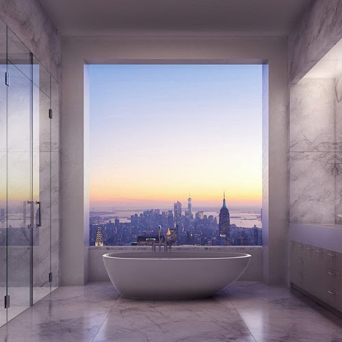 Bathtub with a view, New York City
