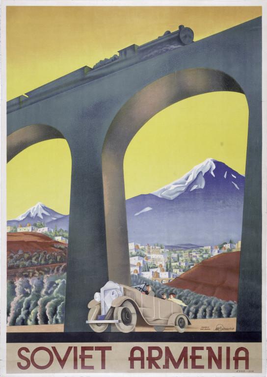 Travel poster for Soviet Armenia,1930s