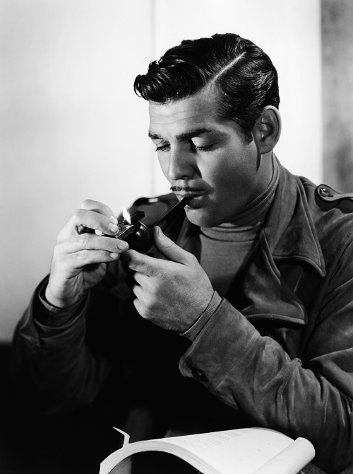 Cool Posters Black And White Clark Gable, smoking a...