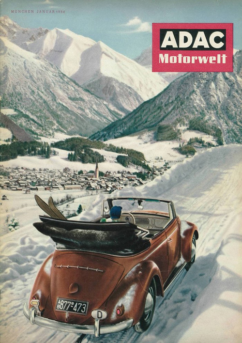 Motoring in the Bavarian Alps, 1954