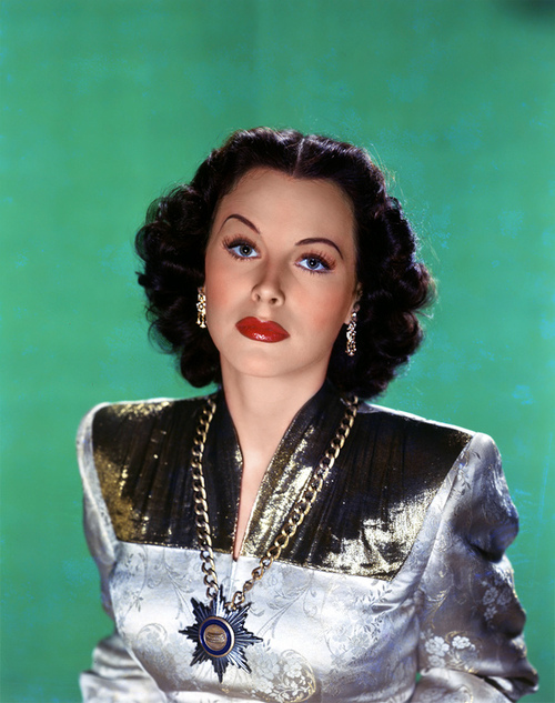 Hedy Lamarr, colour portrait