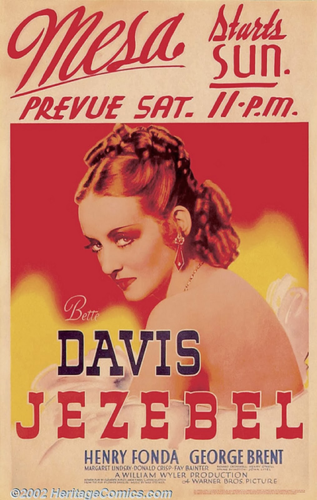 "Poster for Bette Davis in ""Jezebel"""