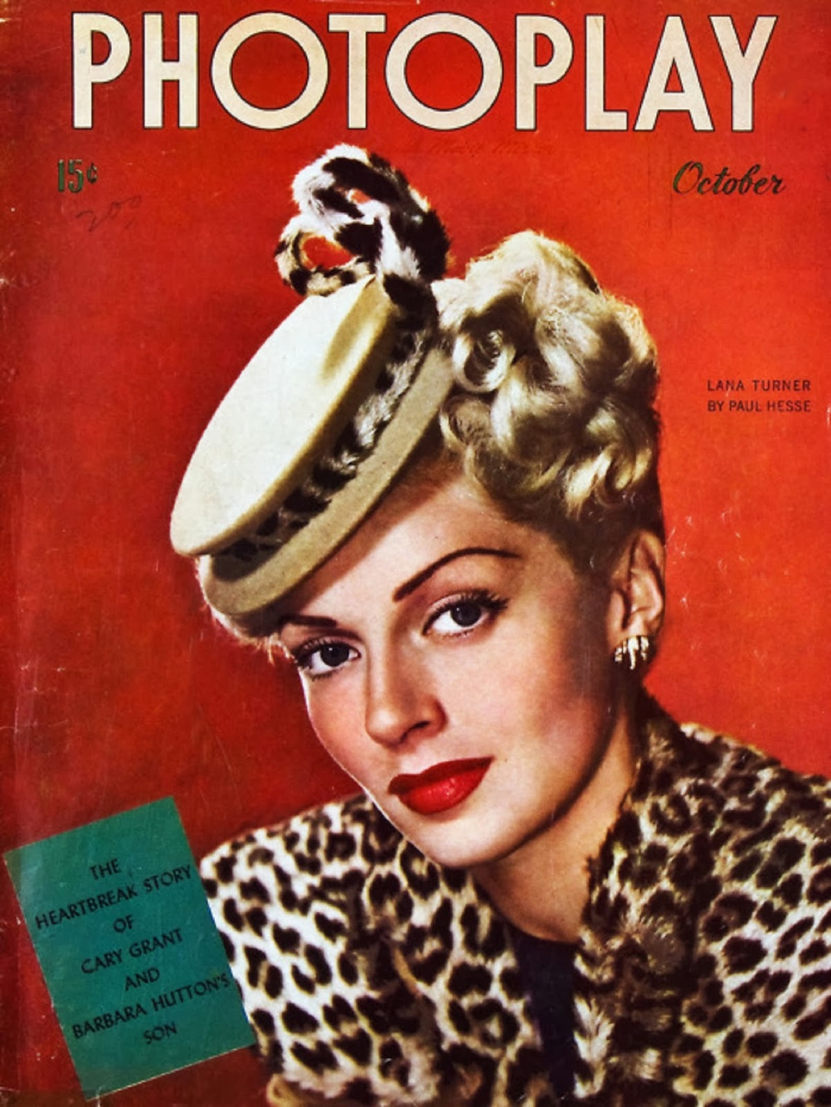 Cover Of Fashion Magazine With Zuzanna Bijoch September: Lana Turner On The Cover Of Photoplay