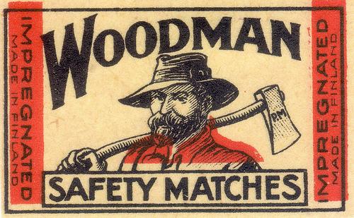 Woodman matches fromFinland