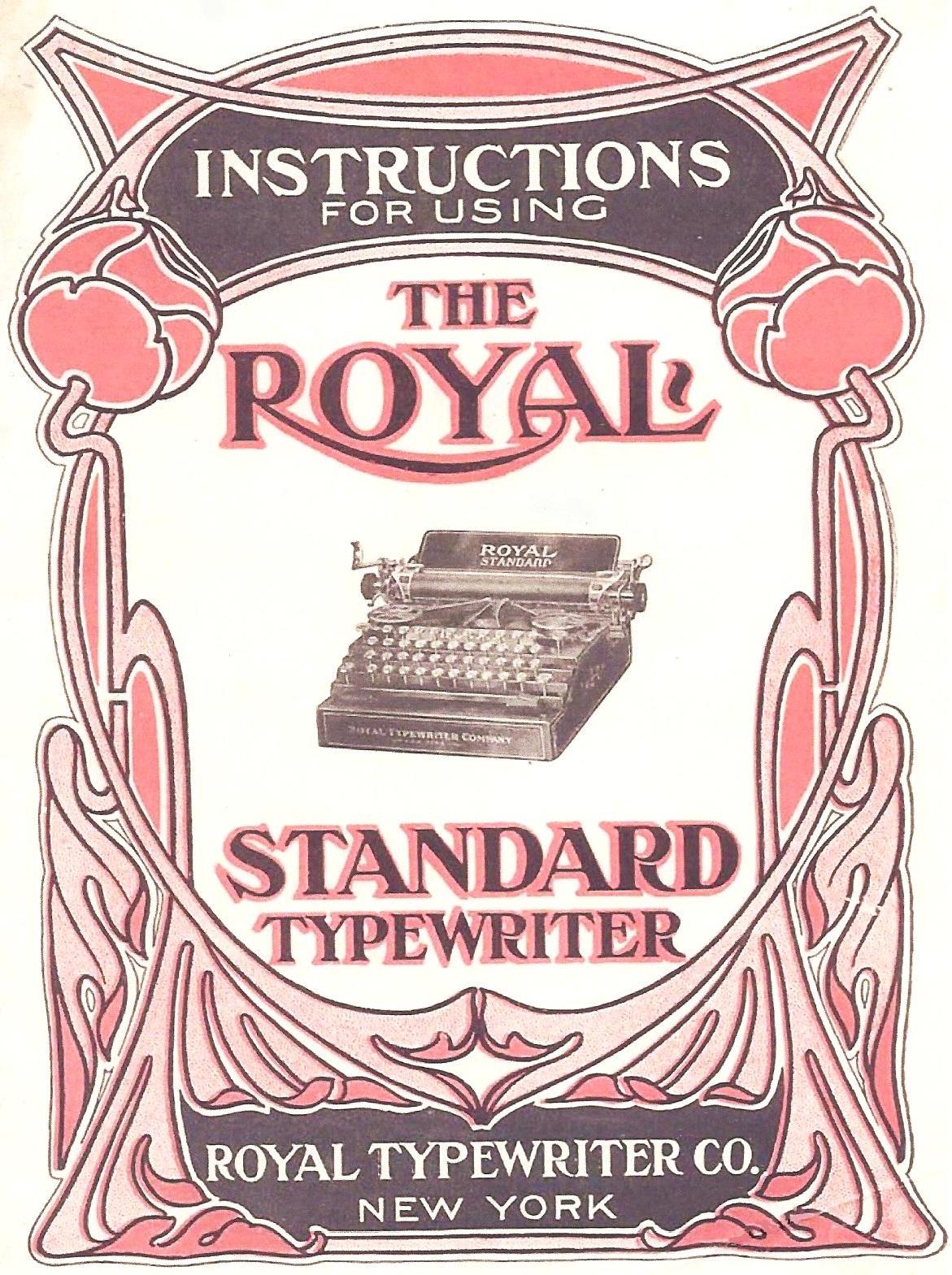 Royal standard typewriter