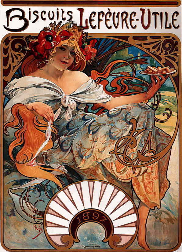 belle epoque poster art by alphonse mucha 1890s matthew. Black Bedroom Furniture Sets. Home Design Ideas